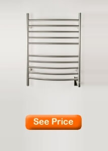 Amba RWH-CB Radiant Hardwired Curved Towel Warmer, Brushed