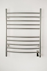 Pearl 8 Bar Wall Mount Electric Towel Warmer Finish Bright Stainless