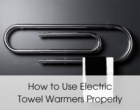 how to use electric towel warmers
