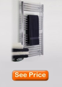 Artos M11175H-BN Denby Towel Warmer Hydronic Brushed Nickel