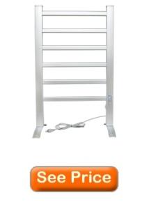 LCM Home Fashion 6-Bar Freestanding Towel Warmer, Drying Rack