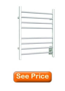 Warmly Yours 8-Bar Polished Stainless Sierra Section Square Towel Warmer