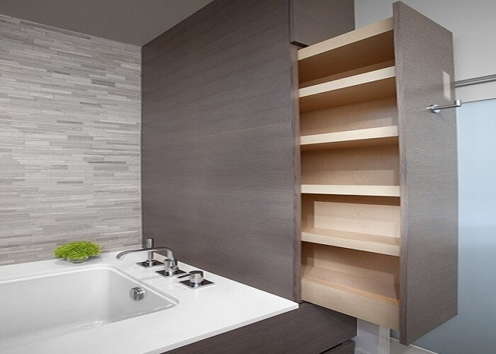 10 practical bathroom design ideas you can use today - Bathroom mirror with hidden storage ...