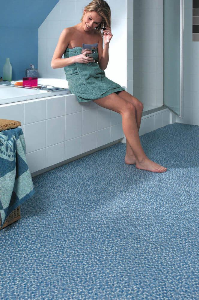 non slip bathroom floor
