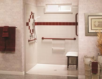 universal shower stall
