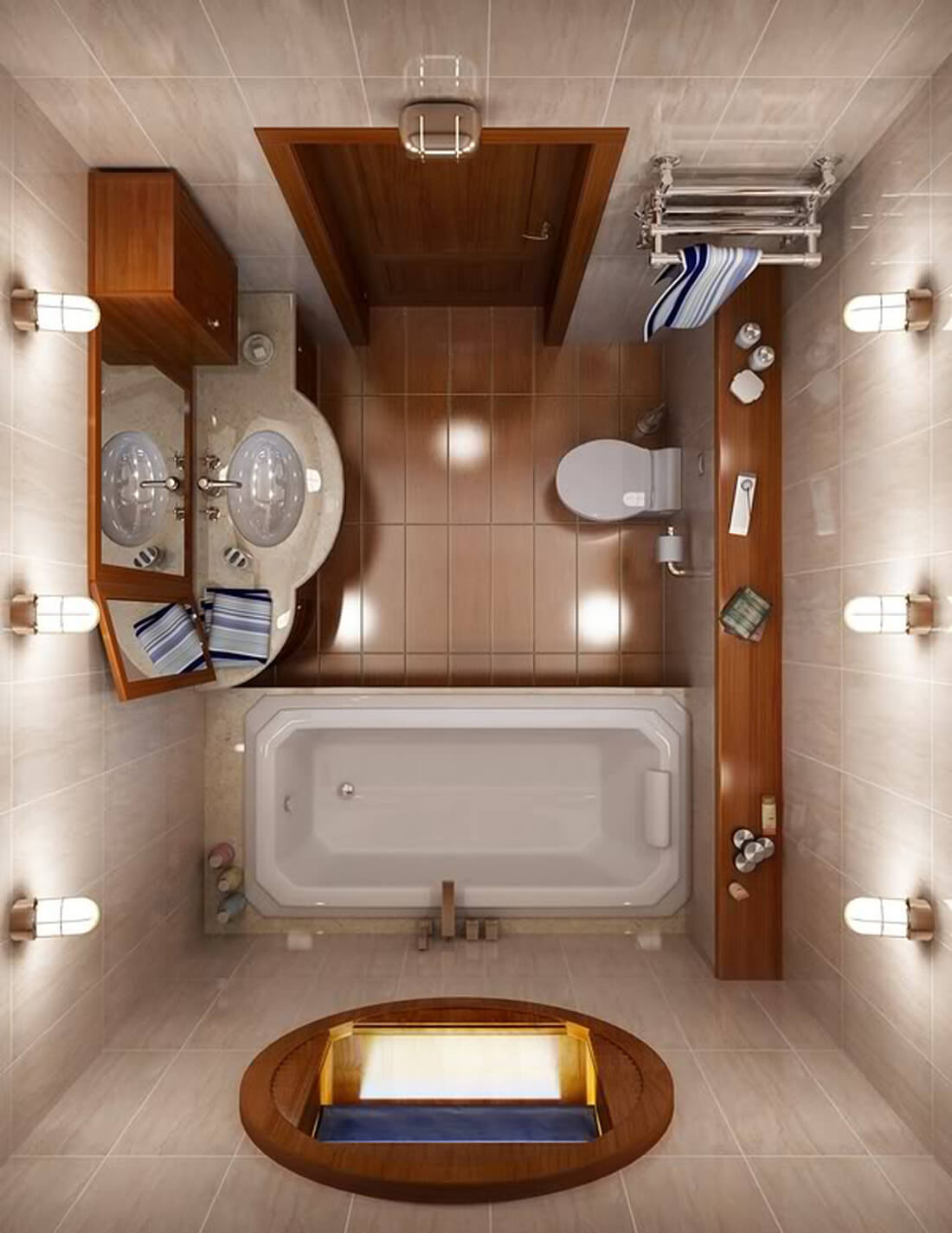 Brilliant Ideas For A Small Bathroom You Can Try Today - Small bathroom remodel with tub for small bathroom ideas